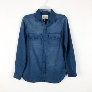 Current/Elliot Chambray Denim Button Down Shirt